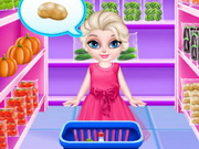 Baby Elsa In Kitchen